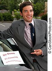 voiture, utilisé, vendeur