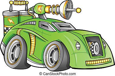 voiture, véhicule, vecteur, apocalyptique