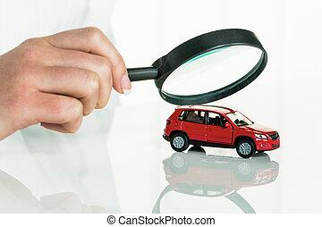 voiture, vérifié, docteur