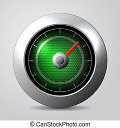 clipart de voiture vert compteur vitesse vert aiguille mot csp3864512 recherchez. Black Bedroom Furniture Sets. Home Design Ideas