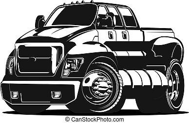 voiture, vecteur, dessin animé