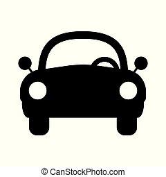 voiture, vecteur, icône