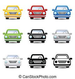 voiture, vecteur, icônes