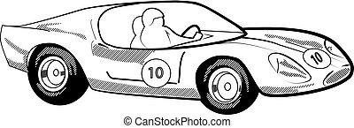 voiture, vecteur, illustration