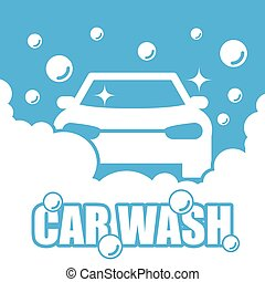 voiture, vecteur, laver