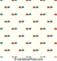 voiture, vecteur, modèle, seamless, boom