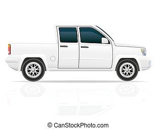 voiture, vecteur, pick-up, illustration