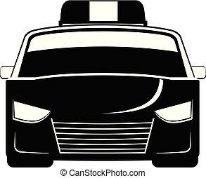 voiture, vecteur, police, icône