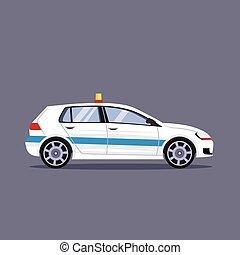 voiture, vecteur, police, illustration