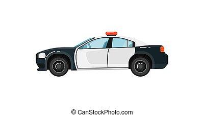 voiture, vecteur, police, isolé, illustration