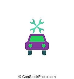 voiture, vecteur, réparation, icône