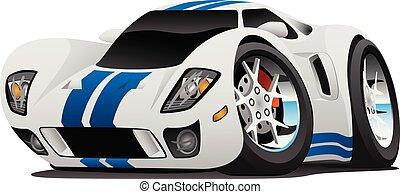 voiture, vecteur, super, dessin animé, illustration