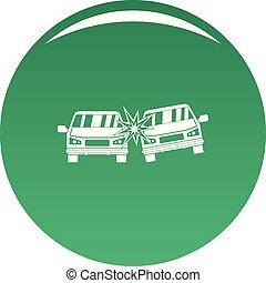 voiture, vecteur, vert, boom, icône
