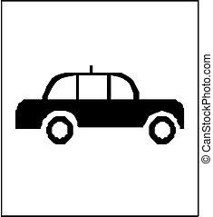 voiture, -vector, police, icône