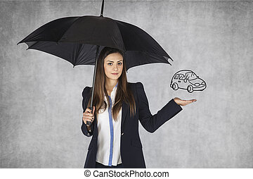 voiture, vend, agent assurance