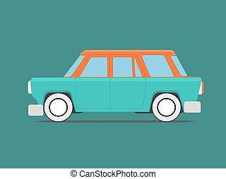 voiture., vendange