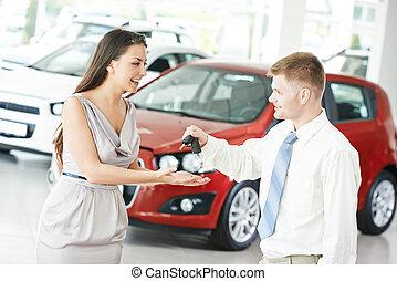 voiture, vente, ou, achat, auto