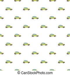 voiture, vert, électrique, modèle