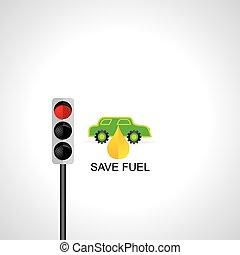 voiture, vert, énergie