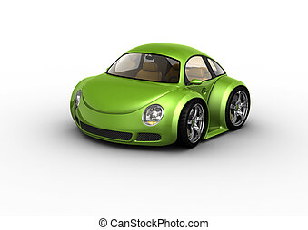 voiture, vert