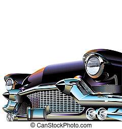 voiture, vieux, classique
