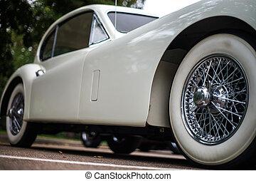 voiture, vieux, retro, détails