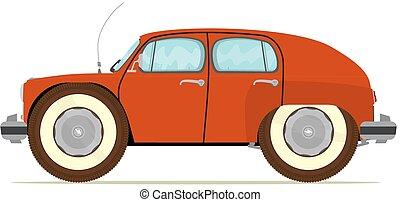 voiture, vieux, rigolote