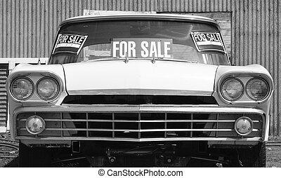 voiture, vieux, vente