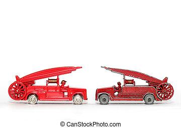 voiture, vieux, vs., jouet, new:
