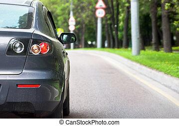 voiture, vue postérieure