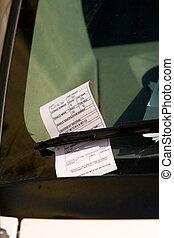 voiture, washington dc, garant ticket, pare-brise