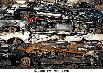 voitures, empilé