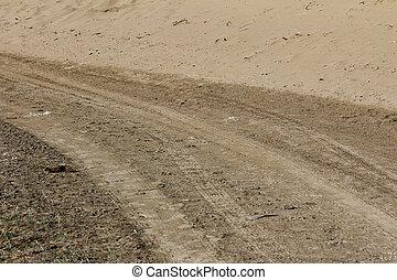 voitures, encombrements, sable