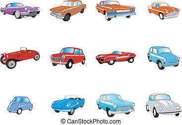 voitures, ensemble, classique