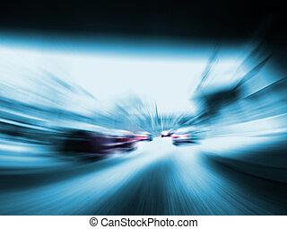 voitures, jeûne, autoroute