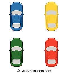 voitures, jouet, ensemble