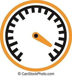 voitures, mesure, symbole., auto, performance, vitesse, icône