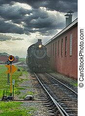voitures passager, vapeur, locomotive, moteur