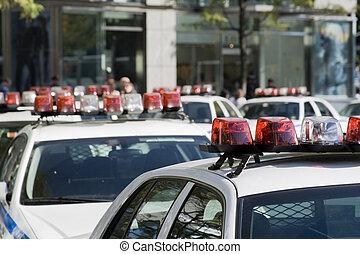 voitures, police