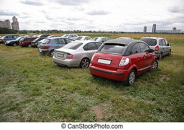 voitures, pré