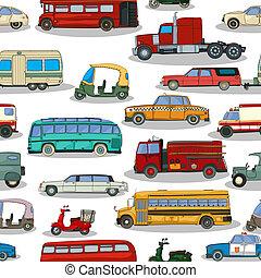 voitures, retro, modèle