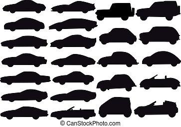 voitures, vecteur