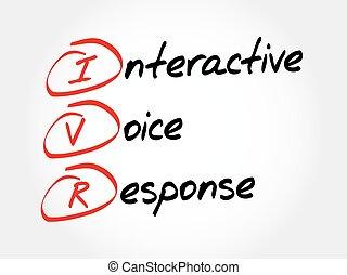 voix, -, réponse, ivr, interactif