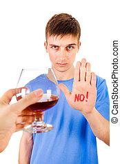 voják, alkohol, odpad