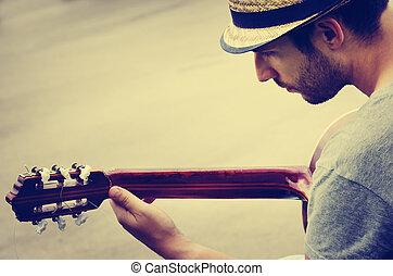voják, ertovat, ta, kytara
