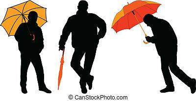 voják, s, deštník