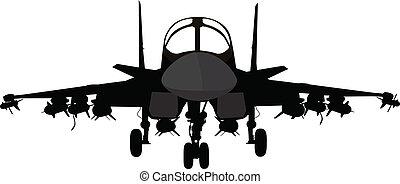 vojenský letadlo