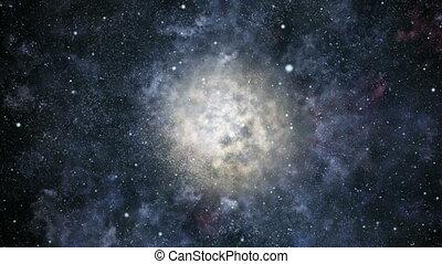 vol, loopable, galaxie
