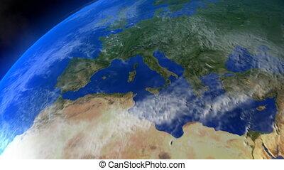 vol spatial, europe