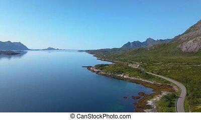vol, sur, fjord